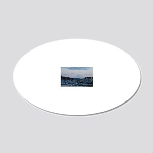 Mt. Rainier and the Harbor 20x12 Oval Wall Decal