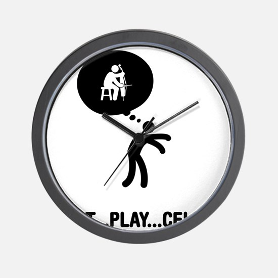 Cello-Player-A Wall Clock