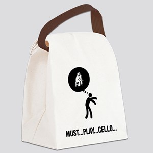 Cello-Player-A Canvas Lunch Bag
