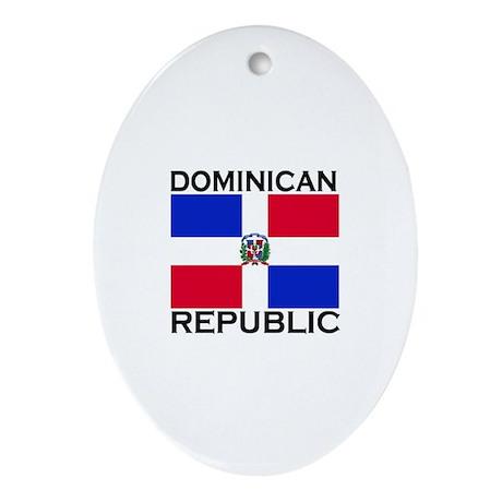 Dominican Republic Flag Oval Ornament