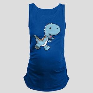 Running Baby Dino Maternity Tank Top