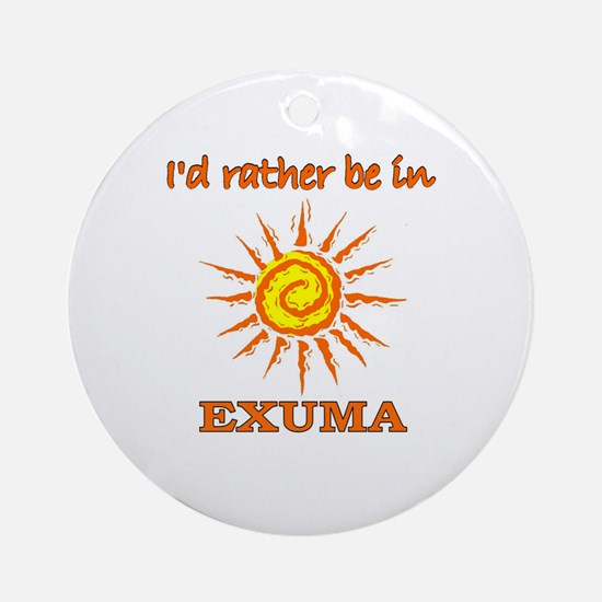 I'd Rather Be In Exuma, Baham Ornament (Round)