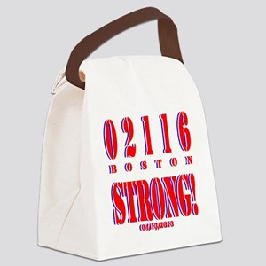 BOSTON STRONG Red, White and Blue Canvas Lunch Bag