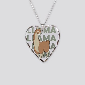 Llama, Llama, Llama! Necklace Heart Charm