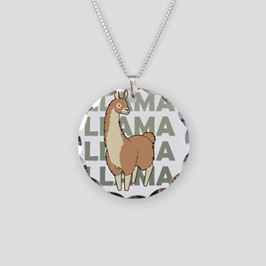Llama, Llama, Llama! Necklace Circle Charm