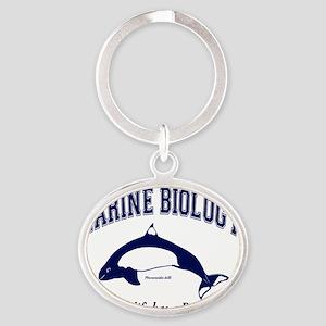 Marine Biology Oval Keychain