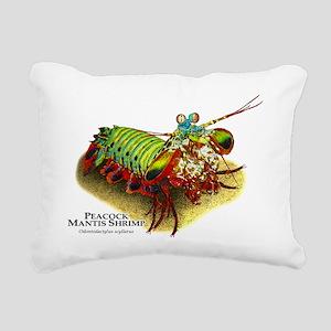 Peacock Mantis Shrimp Rectangular Canvas Pillow