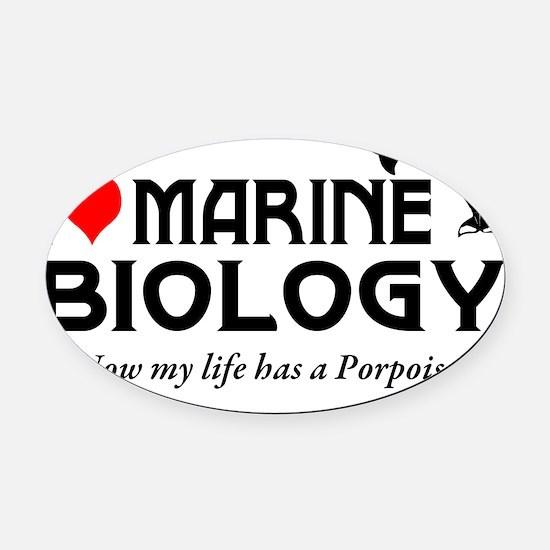 Marine Biology Oval Car Magnet