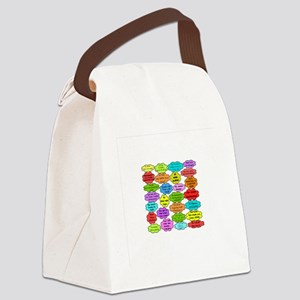 retired nurse BUBBLES TEST Canvas Lunch Bag