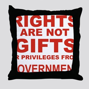 RIGHTS ARE NOT GIFTS OR PRIVILEGES FR Throw Pillow