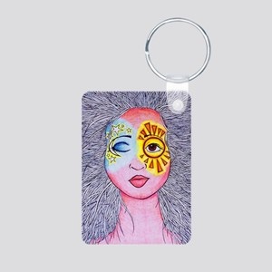 Sun and Moon Aluminum Photo Keychain