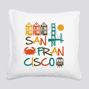 San Francisco Square Canvas Pillow