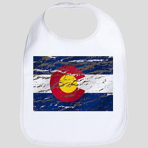 Colorado retro wash flag Bib