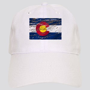 Colorado retro wash flag Cap