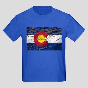 Colorado retro wash flag Kids Dark T-Shirt