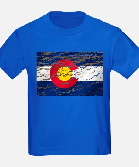 Colorado retro wash flag T