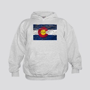 Colorado retro wash flag Kids Hoodie