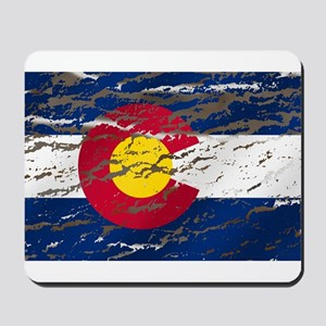Colorado retro wash flag Mousepad