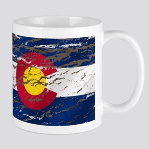 Colorado Retro Wash Flag Mug Mugs