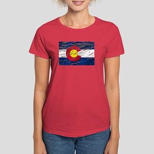 Colorado retro wash flag Women's Dark T-Shirt