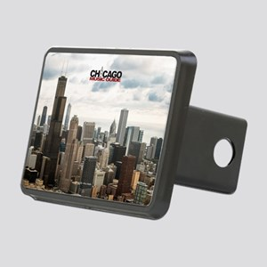Chicago Design #4 With Log Rectangular Hitch Cover