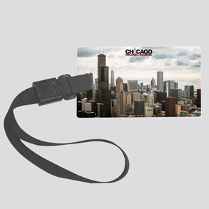 Chicago Design #4 With Logo Large Luggage Tag