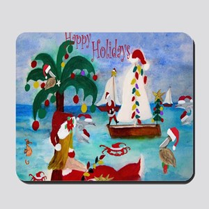 Christmas Boat Parade Mousepad