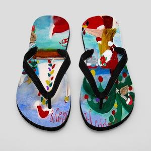 Christmas Boat Parade Flip Flops