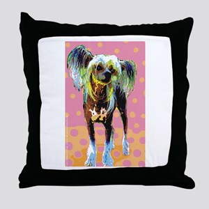 Seeing Spots Chinese Crested Throw Pillow