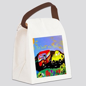 Vintage Camper and Truck Canvas Lunch Bag