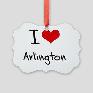 I Heart ARLINGTON Picture Ornament
