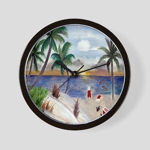 Santas Beach Break Wall Clock