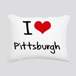 I Heart PITTSBURGH Rectangular Canvas Pillow