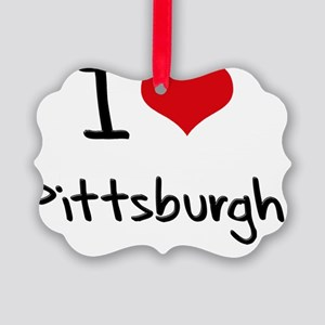 I Heart PITTSBURGH Picture Ornament