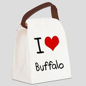 I Heart BUFFALO Canvas Lunch Bag