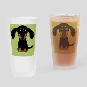 doxiecuttingboard Drinking Glass