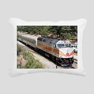 Railway Locomotive, Gran Rectangular Canvas Pillow