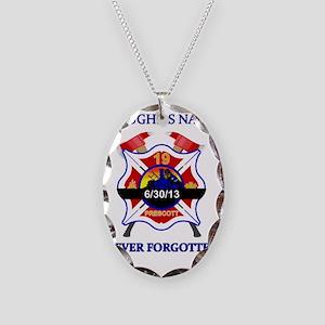 Memory of Arizona's Hotshots Necklace Oval Charm