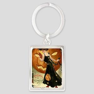 Victorian Halloween Portrait Keychain