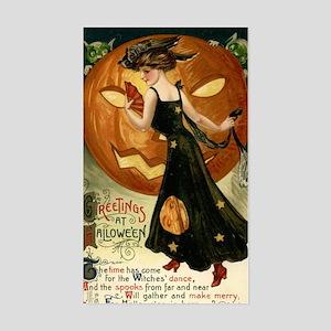 Victorian Halloween Sticker (Rectangle)