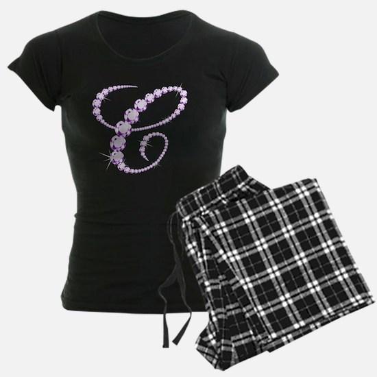 Elegant Initial C Sparkling  Pajamas