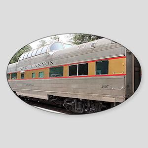 Railway carriage, Grand Canyon, Ari Sticker (Oval)