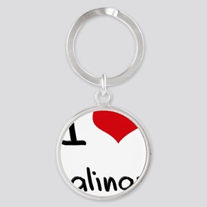 I Heart SALINAS Round Keychain