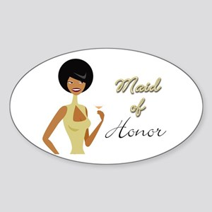 Maid of Honor Oval Sticker