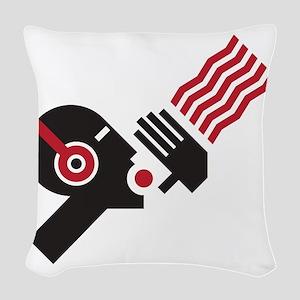 Loud voice Woven Throw Pillow