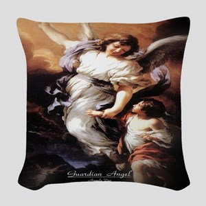 Guardian Angel Angele Dei Woven Throw Pillow