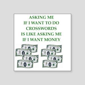 "crosswords Square Sticker 3"" x 3"""