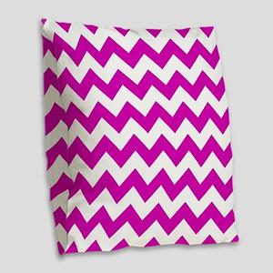 Pink Chevron Pattern Burlap Throw Pillow