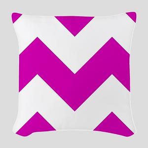 Pink Chevron Pattern Woven Throw Pillow