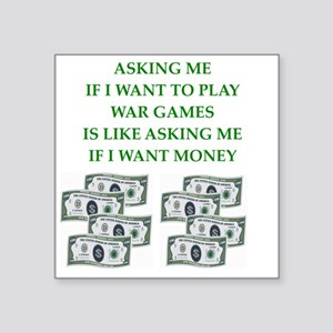 "war games Square Sticker 3"" x 3"""